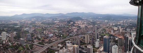 Petronas Twin Towers panoramic views