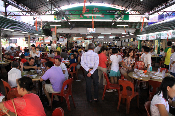 Taiping Food Court along Taman Tasik