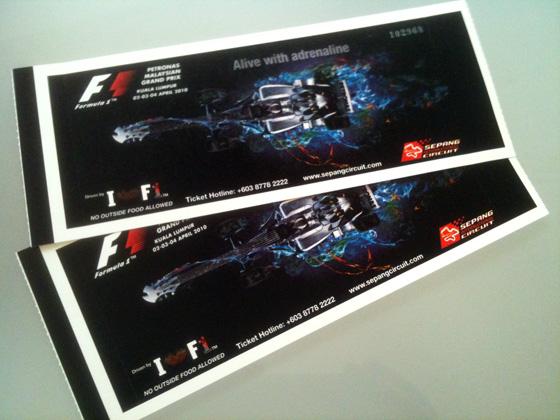 formula1 grand prix malaysia tickets