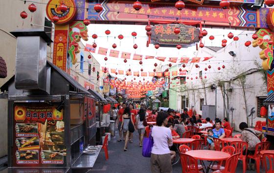 malacca things to eat hainan food street