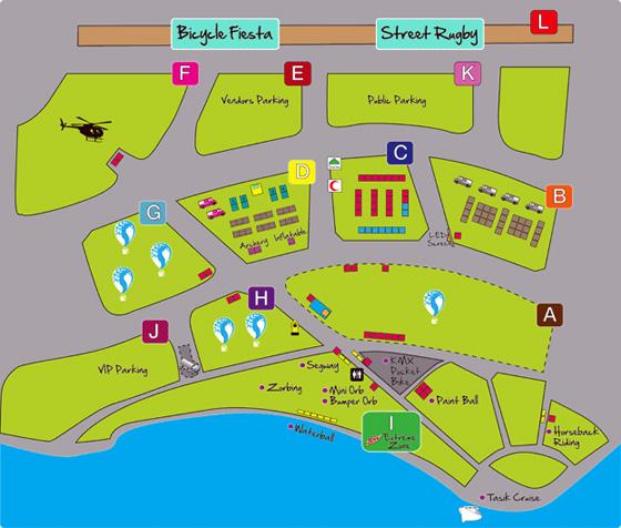 Map Putrajaya International Hot Air Balloon fiesta