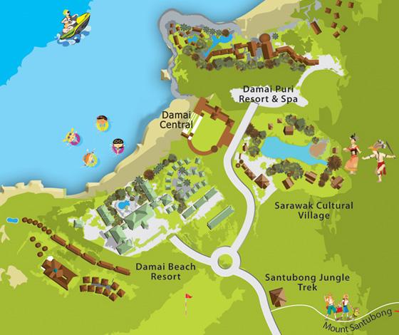 map damai area small