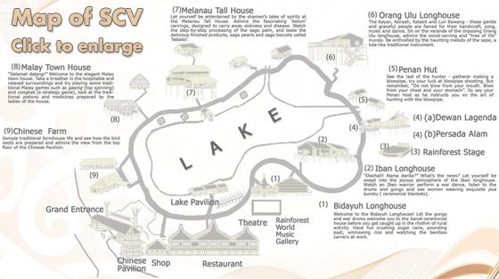 map sarawak cultural village small