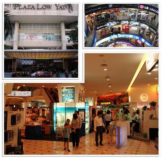 Buying cameras at Plaza Low Yat in Kuala Lumpur