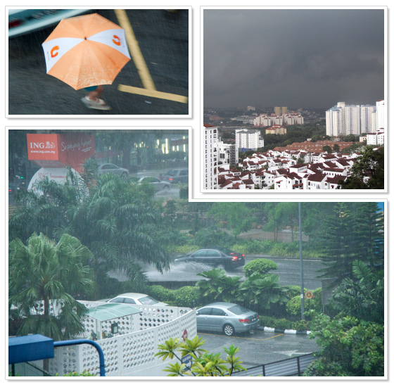 Bad weather in Malaysia (pictures from Kuala Lumpur)