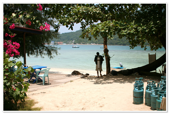 Diving at Perhentian Island in Malaysia