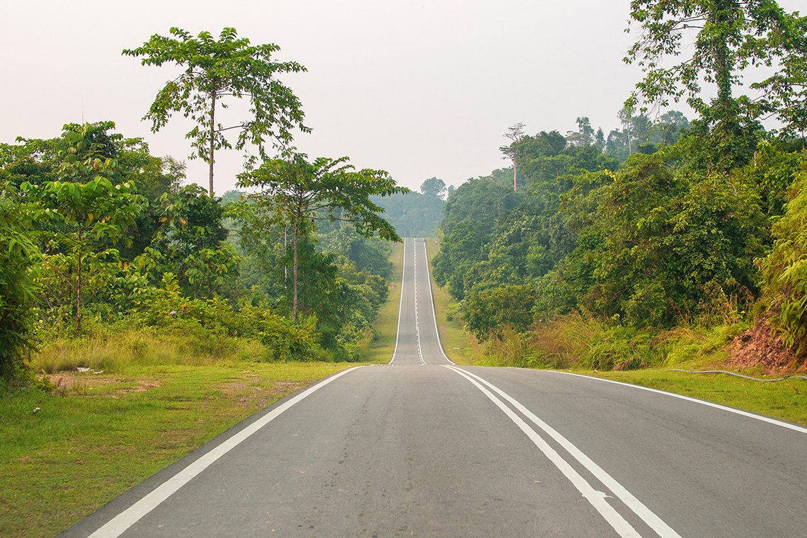 Empty road in Malaysia