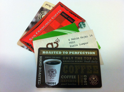 loyalty cards coffee places malaysia