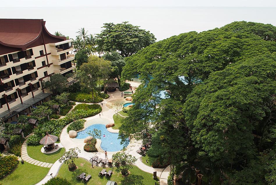 Shangri-La's Rasa Sayang Resort Aerial