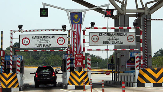 Toll road in Malaysia 2