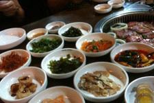 Korean dishes at Taman Danau Desa