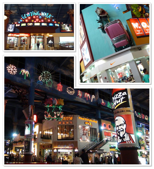 Shopping plaza at Genting Highlands