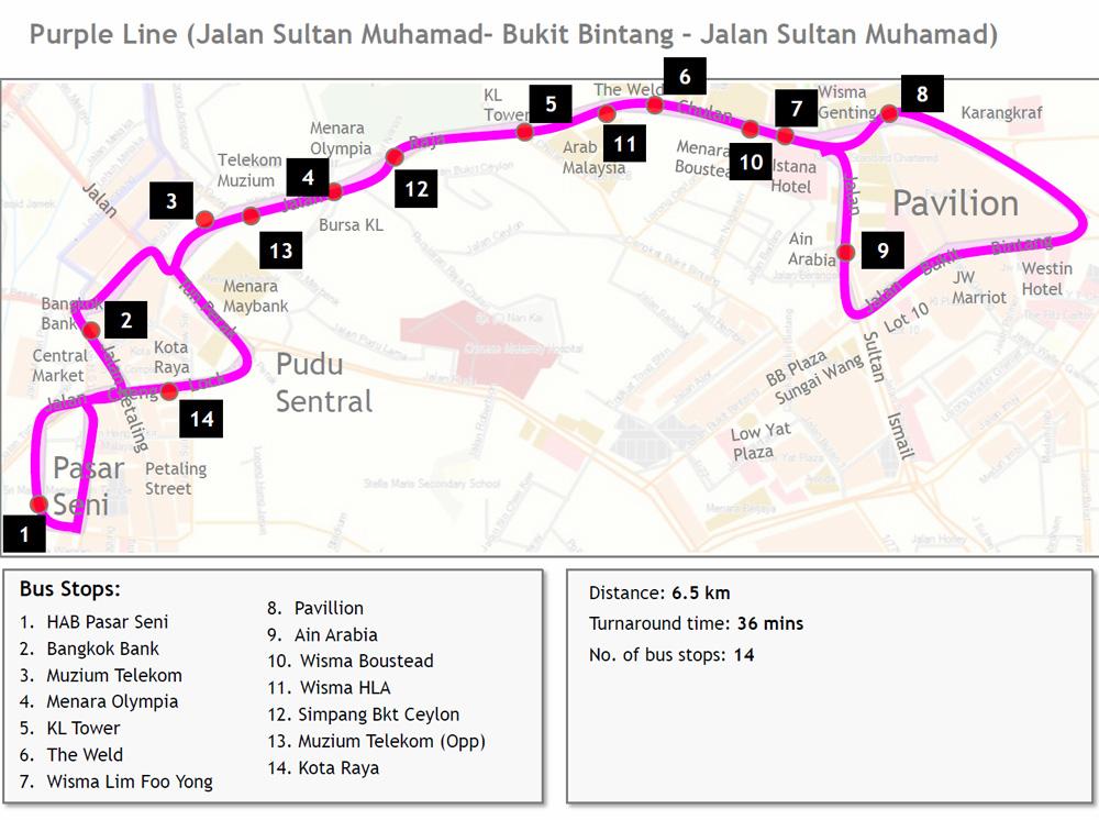 GOKL free city bus service Tips Wonderful Malaysia