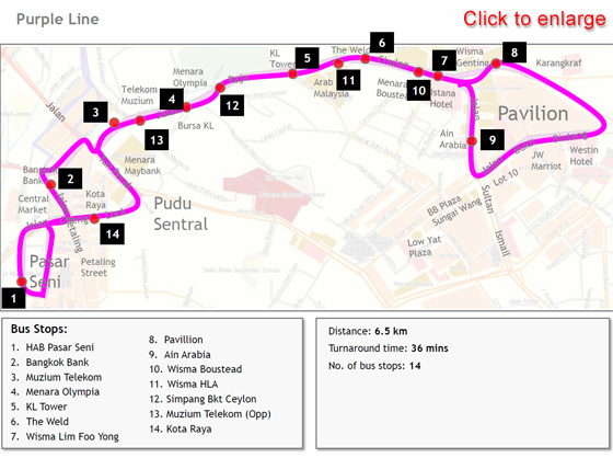 Map Purple Line Free GOKL Bus