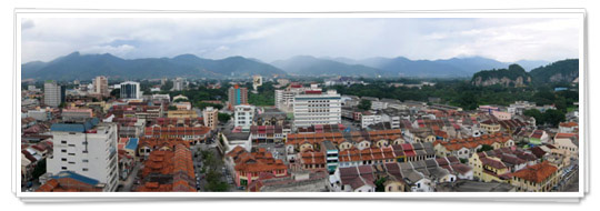 Ipoh view over the city