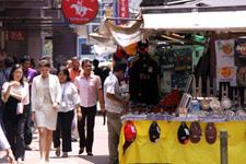 Small street vendors at Bukit Bintang