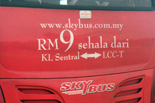 Bus to KLIA from KL Sentral 2