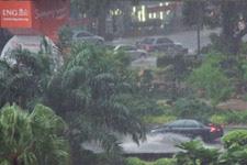 Heavy rains in KL city center