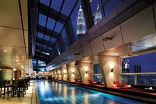 Skybar with amazing view at Traders hotel