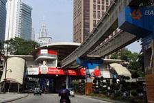 Monorail station in Kuala Lumpur