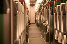 Inside the KLIA Express train