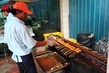 Satay street vendor