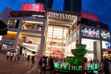 Pavilion KL shopping mall by night