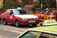Taxi in Kuala Lumpur city center