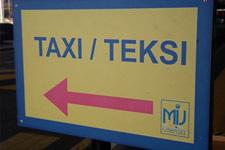 Taxi sign in Kuala Lumpur