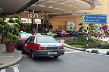 Taxi line at Midvalley shopping mall