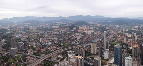 Kuala Lumpur view from Petronas