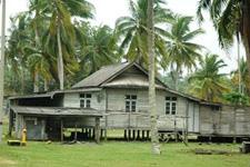 Typical local house in Kuala Terengganu area