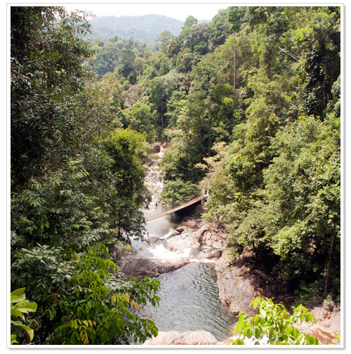 Lasir waterfall from lookout point