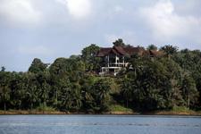Lake Kenyir resort from afar