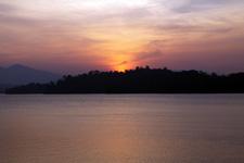 Amazing sunset at Lake Kenyir