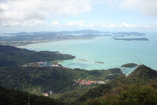 View from the highest point of Langkawi