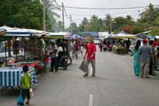 Daily market at the kampung
