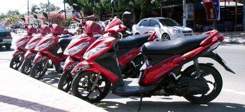 Renting a motorcycle on Langkawi