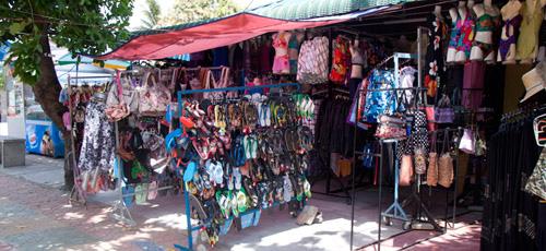 Small shops at Pantai Cenang Langkawi 2