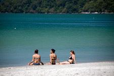 Sun bathing at Pantai Cenang