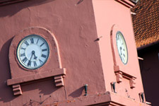Malacca Christ Church Clock Tower closeup
