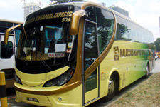 Coach service between Malacca and Singapore