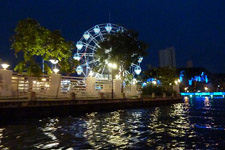 Malacca Ferris wheel along the river