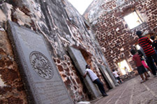 Historic sites in city center Malacca