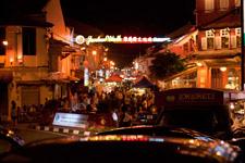 Malacca Jonker Street by night