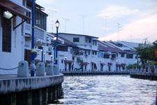 Malacca river cruise during sundown