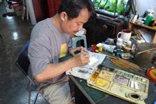 Malacca Temple Street art shops
