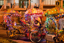Malacca Trishaw by night