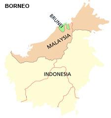 Map Borneo small