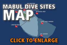 Map dive spots Mabul